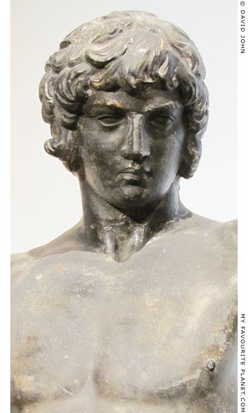 Detail of thestatuette of Antinous as Dionysus in Berlin at My Favourite Planet