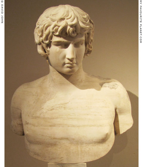 Marble bust of Antinous, Altes Museum, Berlin at My Favourite Planet