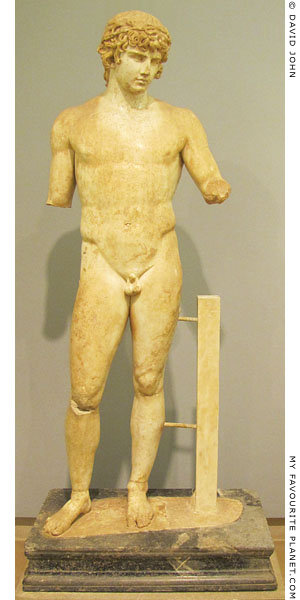 Marble statue of Antinous, Delphi Archaeological Museum at My Favourite Planet