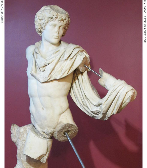 A marble statue of Antinous as Androklos at My Favourite Planet