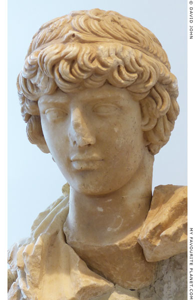 Detail of the statue of Antinous in Olympia at My Favourite Planet