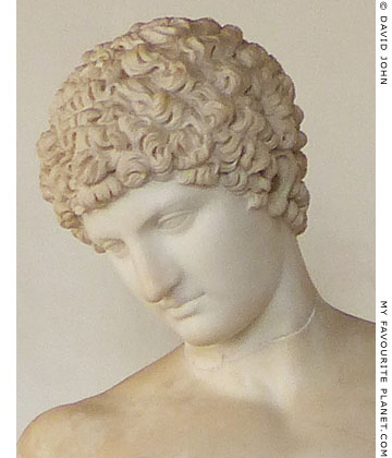Detail of the Capitoline Antinous statue of Hermes at My Favourite Planet