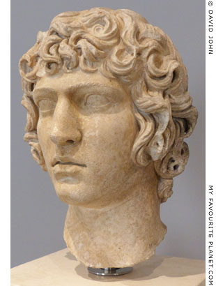 Portrait head of Antinous from Hadrian's Villa, Tivoli at My Favourite Planet