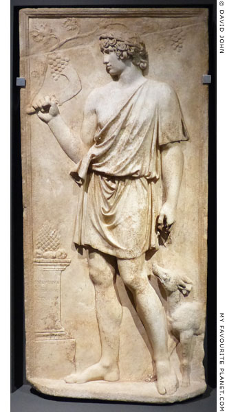 Marble relief showing Antinous as Silvanus at My Favourite Planet