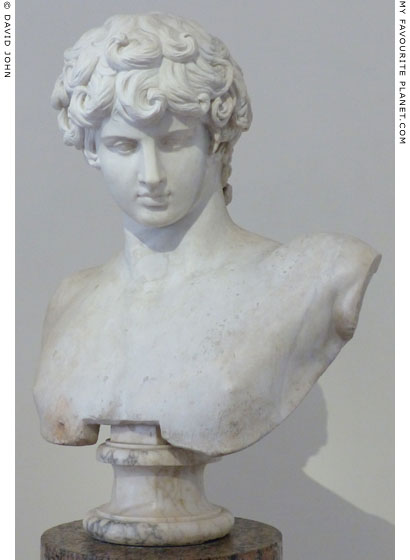The restored Ludovisi Antinous marble portrait bust, Palazzo Altemps, Rome at My Favourite Planet