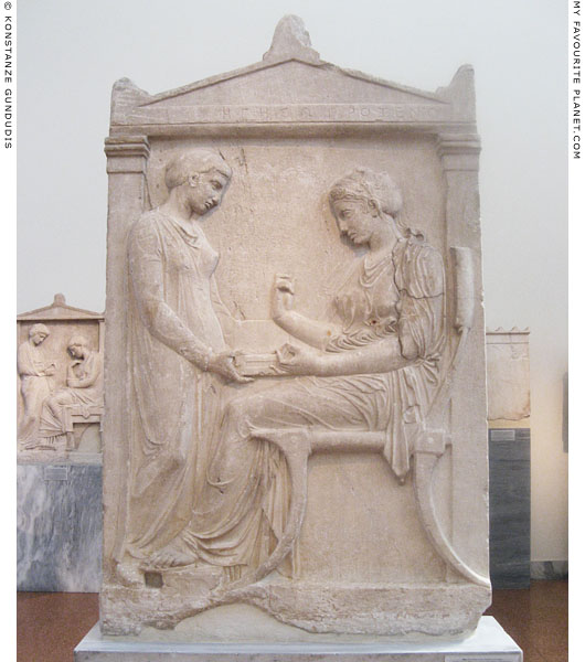 The grave stele of Hegeso attributed to Kallimachos at My Favourite Planet