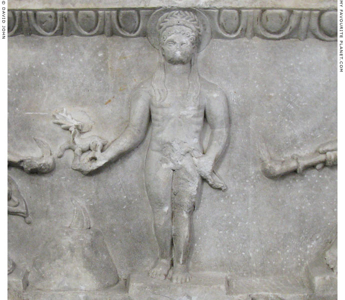The statue of Apollo Philesios on the The Kanachos Relief at My Favourite Planet