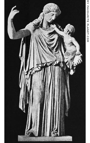Marble statue of Eirene holding the infant Ploutos, Glyptothek, Munich at My Favourite Planet