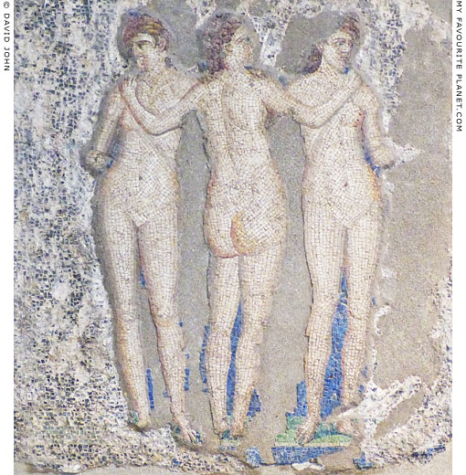 A mosaic from Pompeii depicting the three Graces at My Favourite Planet