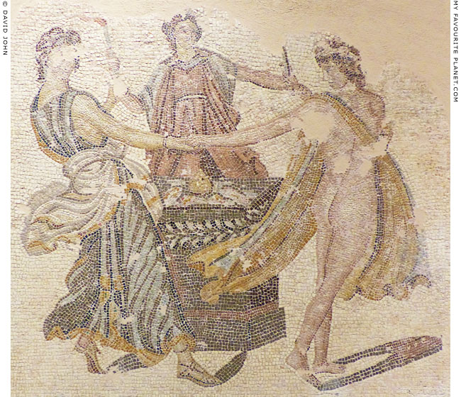 The three Graces on a mosaic from Patras at My Favourite Planet