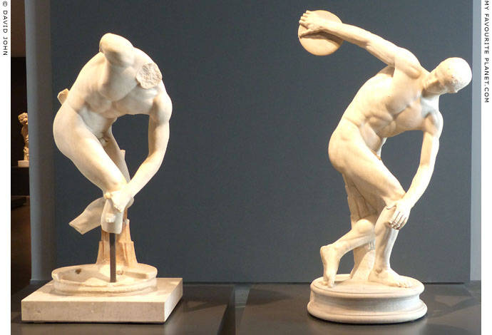 Two Discobolus statues of the Lancellotti type in the Palazzo Massimo alle Terme, Rome at My Favourite Planet