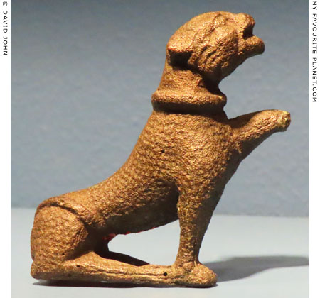 A bronze figure of a seated panther, Allard Pierson Museum, Amsterdam at My Favourite Planet