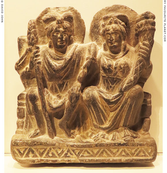 A relief of Hariti and Panchika from Gandhara at My Favourite Planet