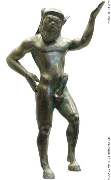 A bronze statuette of a Silen from Dodona at My Favourite Planet