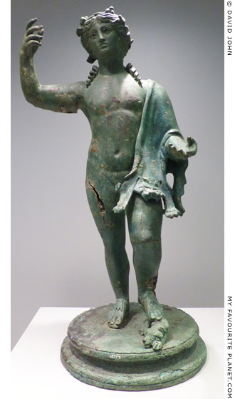 Bronze statuette of Dionysos from the Ambelokipoi Hoard at My Favourite Planet