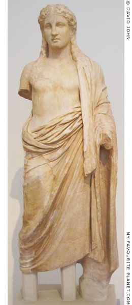 Marble statue of Dionysus from Eleusus at My Favourite Planet