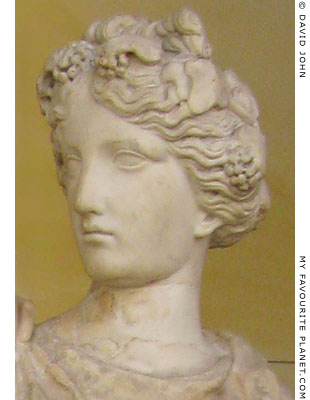 The head of Ariadne from the statue in the Schinkel Museum, Berlin at My Favourite Planet
