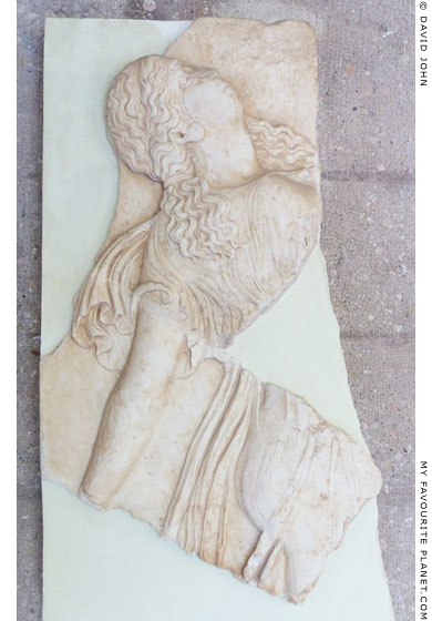 A marble relief of a dancing Maenad from Corinth at My Favourite Planet