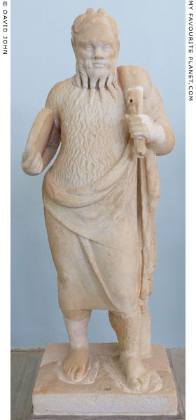 Statue of a Papposilenos actor from the temple of Dionysus, Delos, Greece at My Favourite Planet