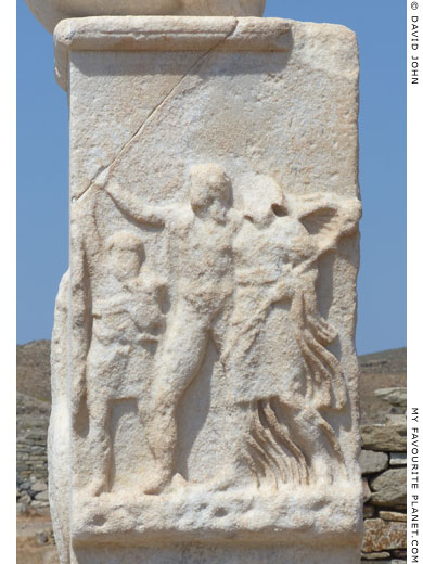 Relief at the temple of Dionysus, Delos at My Favourite Planet