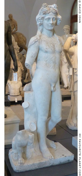 Marble statue of Dionysus in Dresden at My Favourite Planet