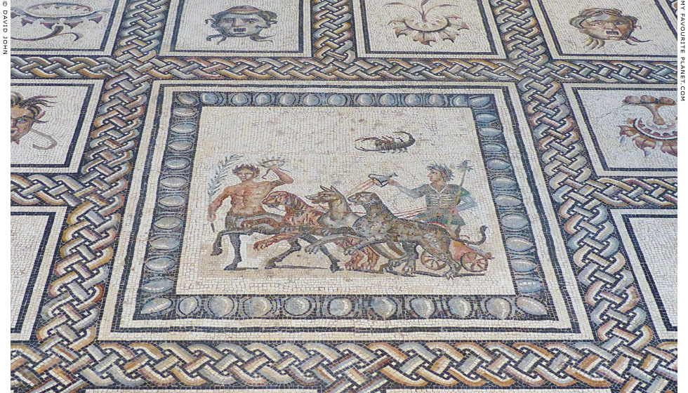 Roman mosaic depicting Dionysus in Dresden at My Favourite Planet