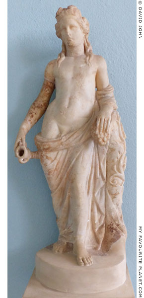 Marble statuette of Dionysus from Eleusis at My Favourite Planet