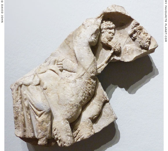 A camel on a part of a triumph of Dionysus relief at My Favourite Planet