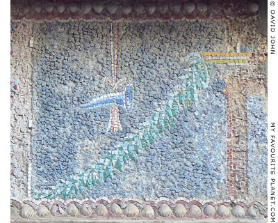 A mosaic depicting a rhyton in the House of the Skeleton, Herculaneum at My Favourite Planet