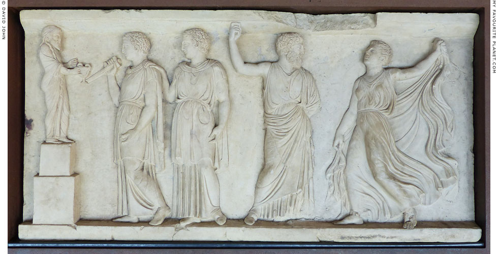 A Neo-Attic marble relief of a Dionysiac scene from Herculaneum at My Favourite Planet