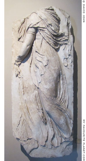Marble relief of a dancing Maenad from Pergamon at My Favourite Planet