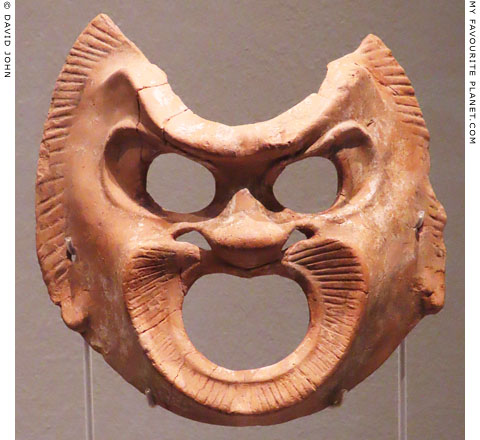 A terracotta theatre mask from Cyprus at My Favourite Planet