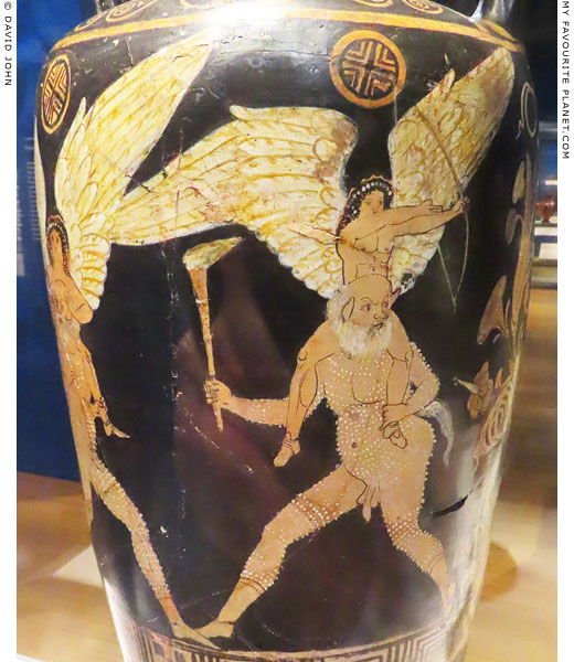 A scene from a Satyr play on a Campanian amphora at My Favourite Planet