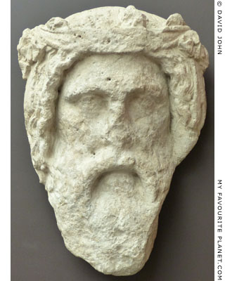 Colossal limestone mask of Dionysus from Cyprus at My Favourite Planet
