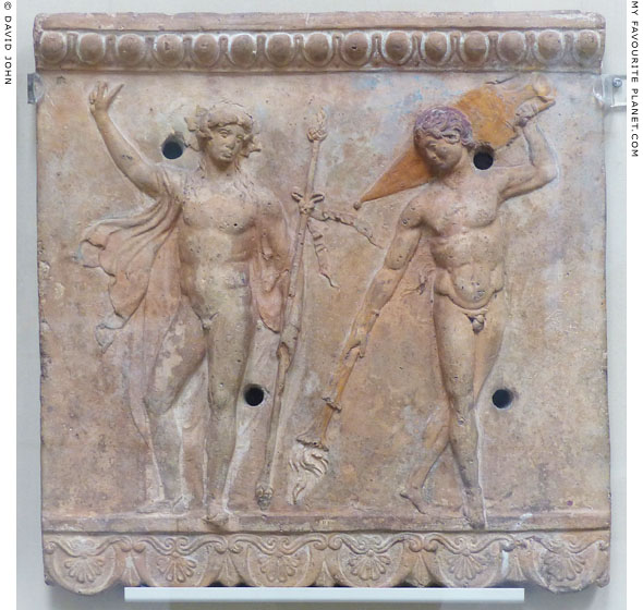 A Campana plaque of Bacchus and a Satyr at My Favourite Planet