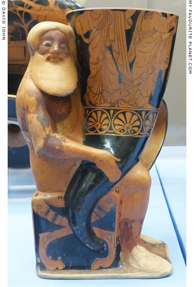 A rhyton in the form of Dionysus at My Favourite Planet