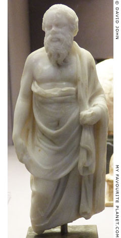 Marble statuette of Socrates in the British Museum at My Favourite Planet