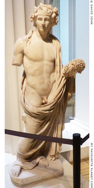 Marble statue of Dionysus from the temple of Dionysus in Cyrene at My Favourite Planet