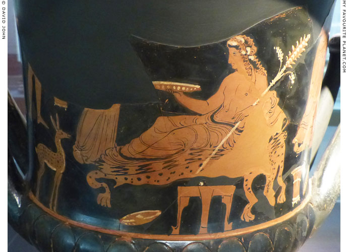 Dionysus on the Parthenopaios krater in Milan at My Favourite Planet