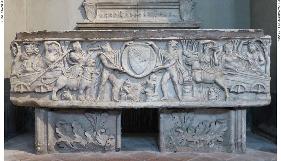 Relief of a triumph of Dionysus on a sarcophagus in Naples Cathedral at My Favourite Planet