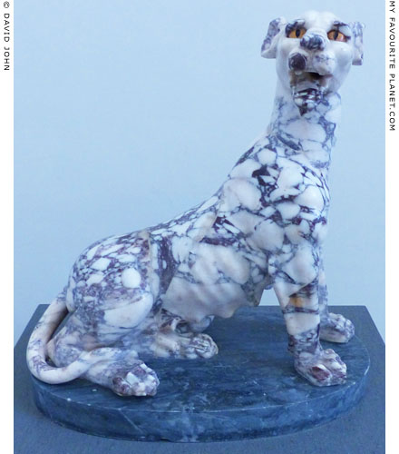 Statue of a female panther made of pavonazetto marble, Naples at My Favourite Planet