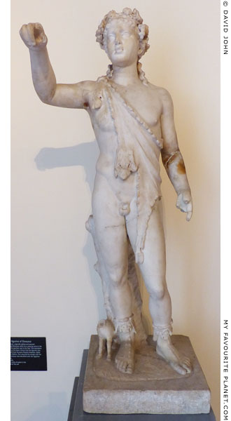 Marble statuette of Dionysus from Pompeii at My Favourite Planet