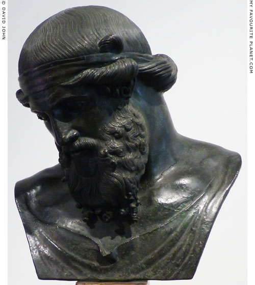 Bronze bust known as Dionysus-Plato, from Herculaneum at My Favourite Planet