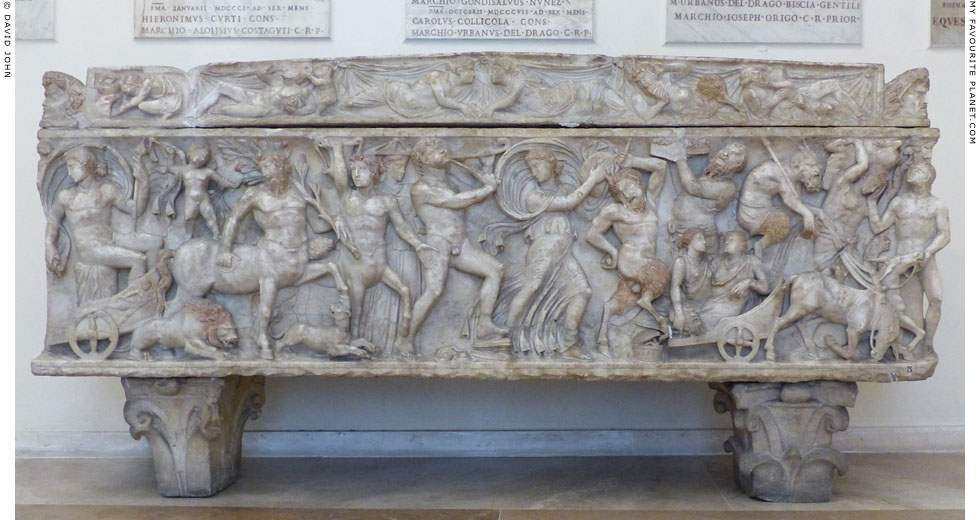 Relief of a triumph of Dionysus on a sarcophagus, Capitoline Museums, Rome at My Favourite Planet