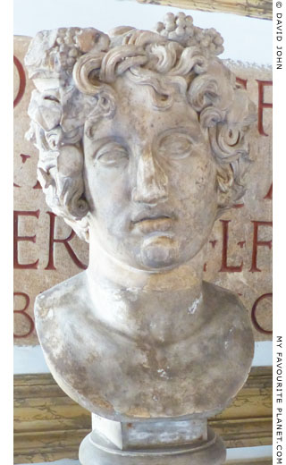 Marble bust of Dionysus from the Albani Collection at My Favourite Planet