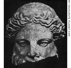 Head of the Terme Dionysos-Sardanapalos statue in the Ashmolean Museum, Oxford at My Favourite Planet