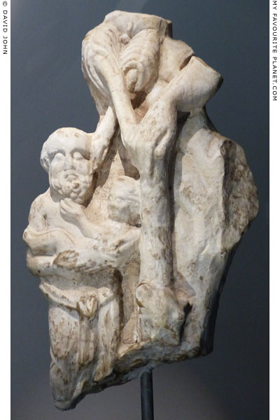 Fragment of a statue group with an old Silen holding the infant Dionysus at My Favourite Planet