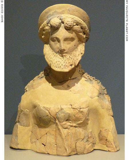 Terracotta bust of Dionysus from Mikri Santa, Imathia at My Favourite Planet