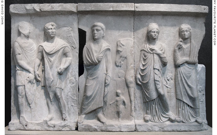 The grave relief dedicated by Antigonos, son of Evlandros at My Favourite Planet