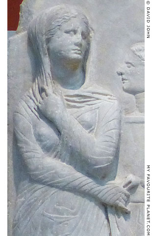 One of the women on the relief from Derveni signed by Evandros at My Favourite Planet
